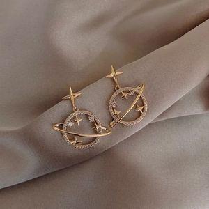Space Girl Planet Earrings
